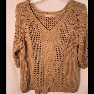 beige color small sweater
